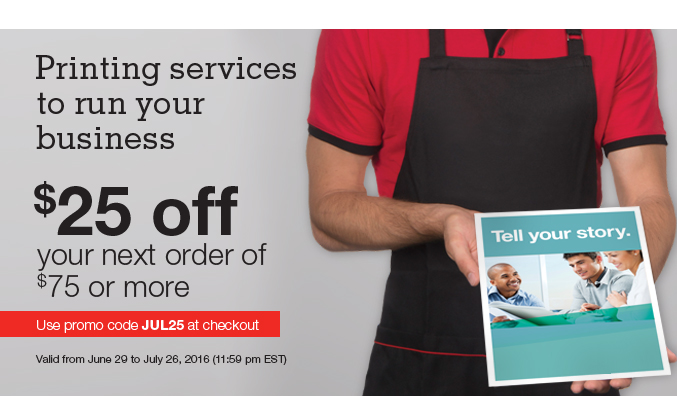 staples copy and print canada coupon code deal save 25 off your